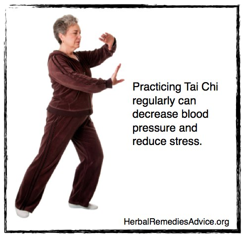 Practicing Tai Chi regularly can decrease blood pressure and reduce stress