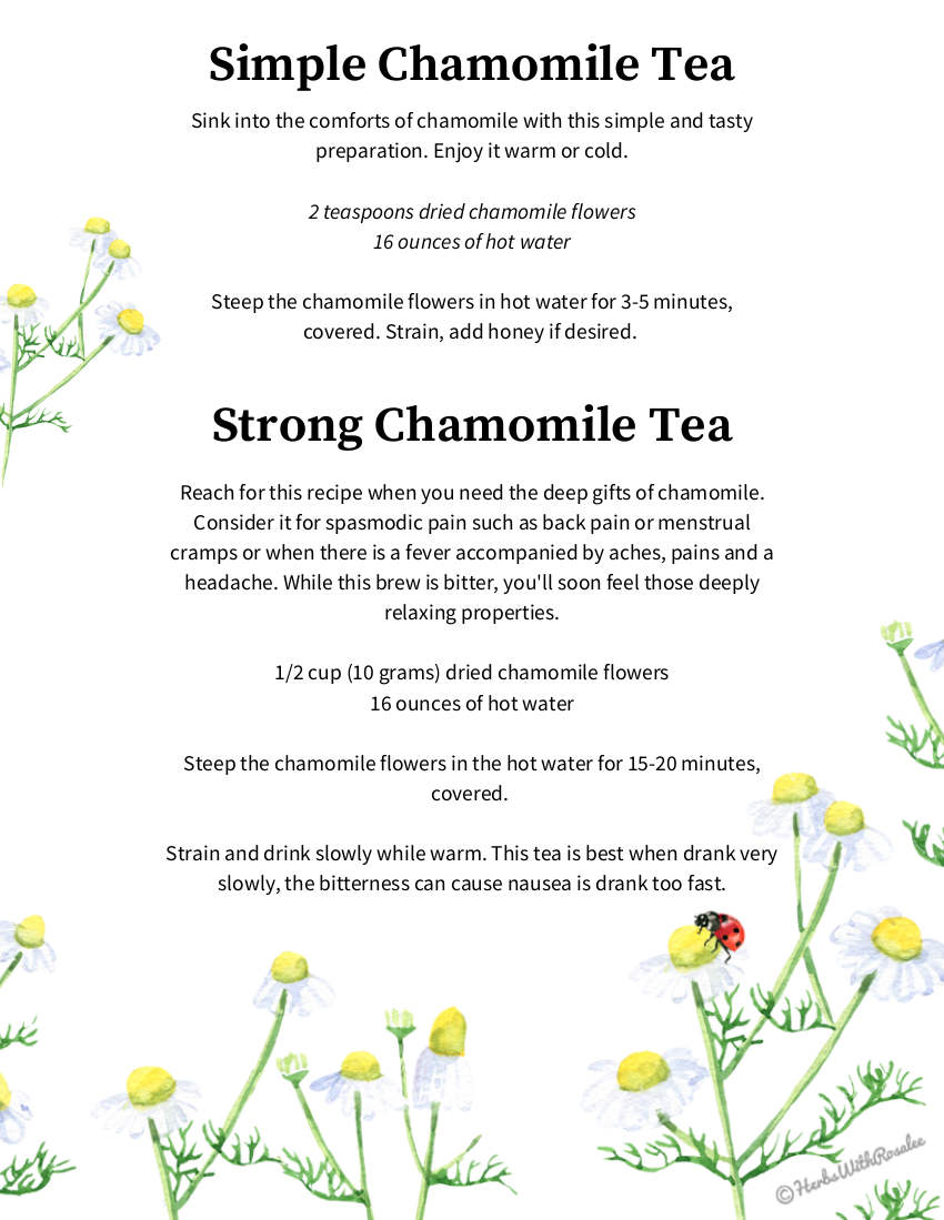 chamomile tea recipe