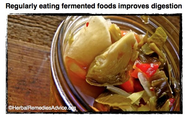 Improve food digestion with fermented foods