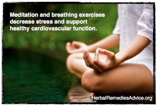 Meditation and breathing exercises support healthy cardiovascular function