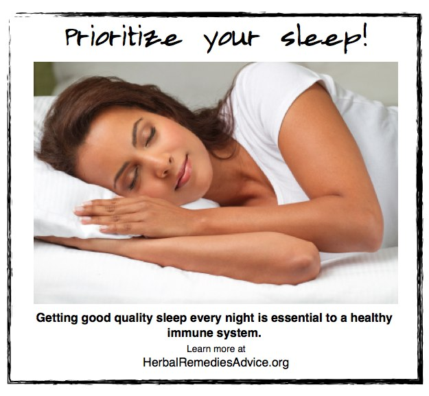 Sleep is crucial to our healing process and is one of the greatest natural immune system boosters.